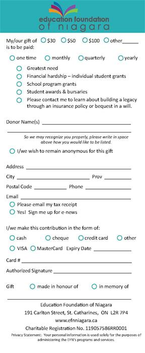 EFN Donor Form for Mail